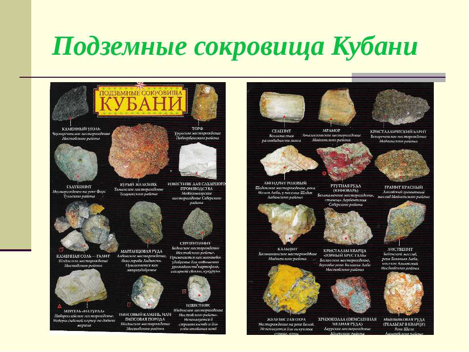 Подземные сокровища Кубани