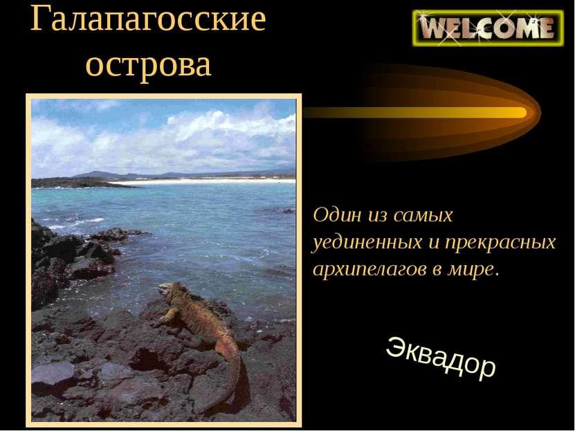Галапагосские острова Один из самых уединенных и прекрасных архипелагов в мир...