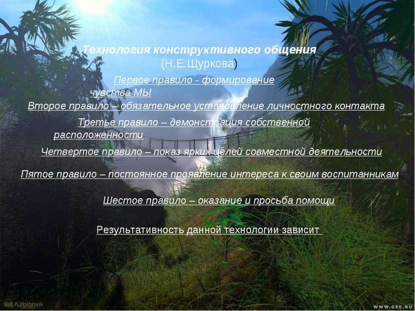 Технология конструктивного общения (Н.Е.Щуркова) Первое правило - формировани...