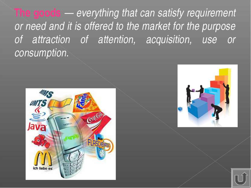 The goods — everything that can satisfy requirement or need and it is offered...
