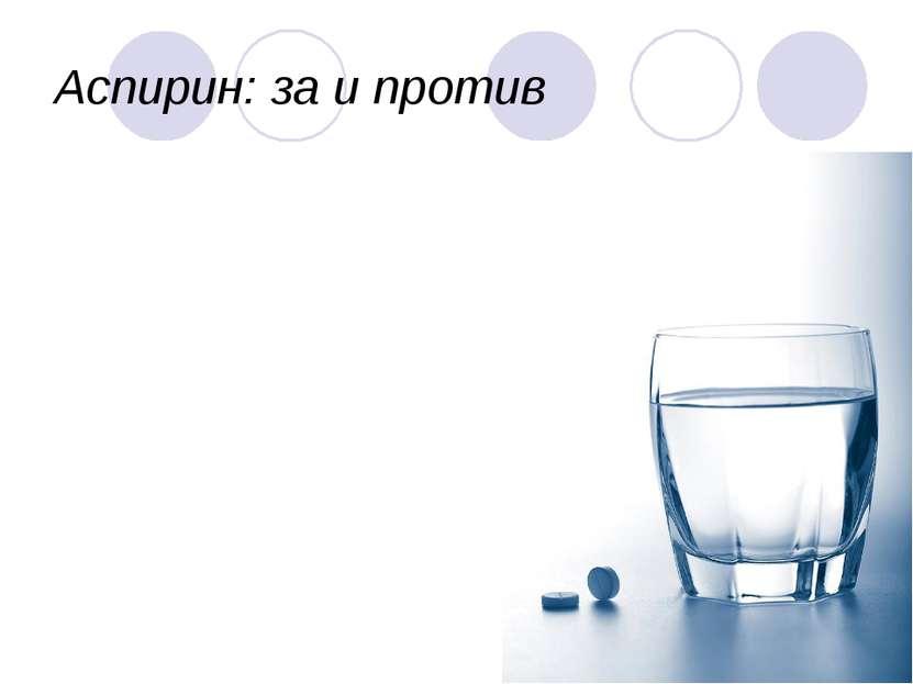 Аспирин: за и против