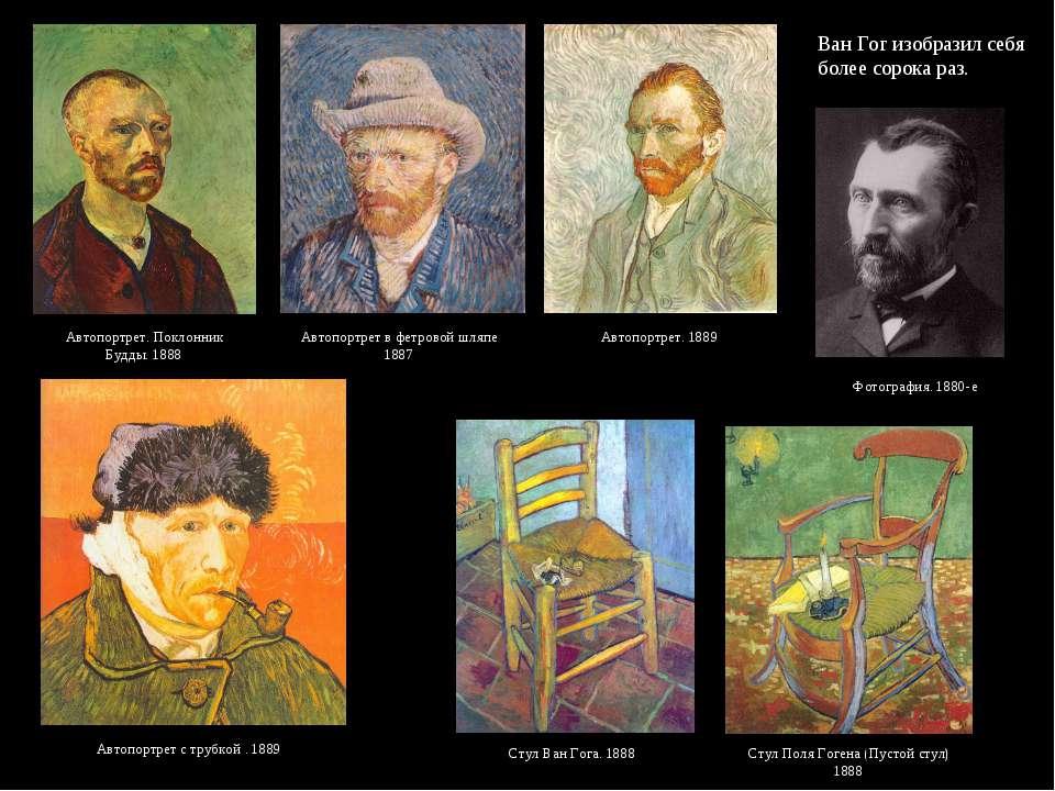 Ван Гог изобразил себя более сорока раз. Автопортрет. Поклонник Будды. 1888 А...