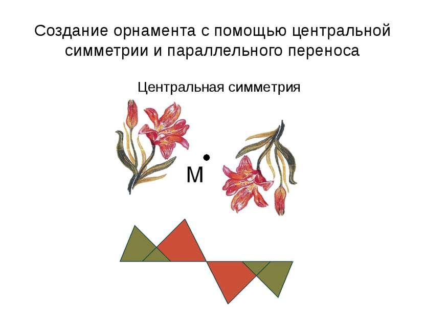 Создание орнамента с помощью центральной симметрии и параллельного переноса Ц...