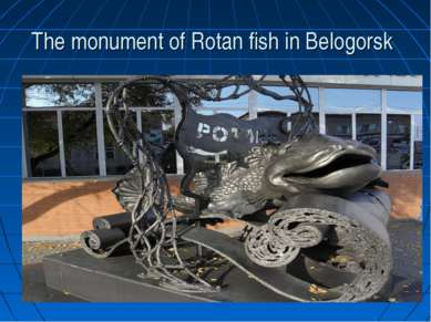 The monument of Rotan fish in Belogorsk