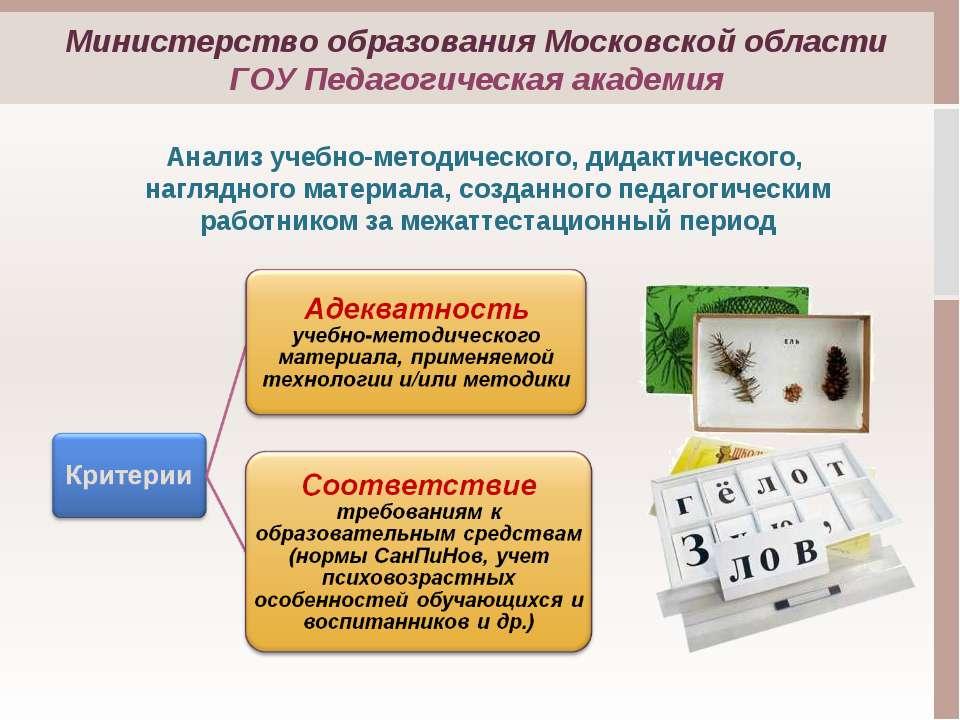 Анализ учебно-методического, дидактического, наглядного материала, созданного...