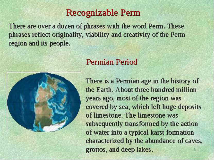 Recognizable Perm There are over a dozen of phrases with the word Perm. These...