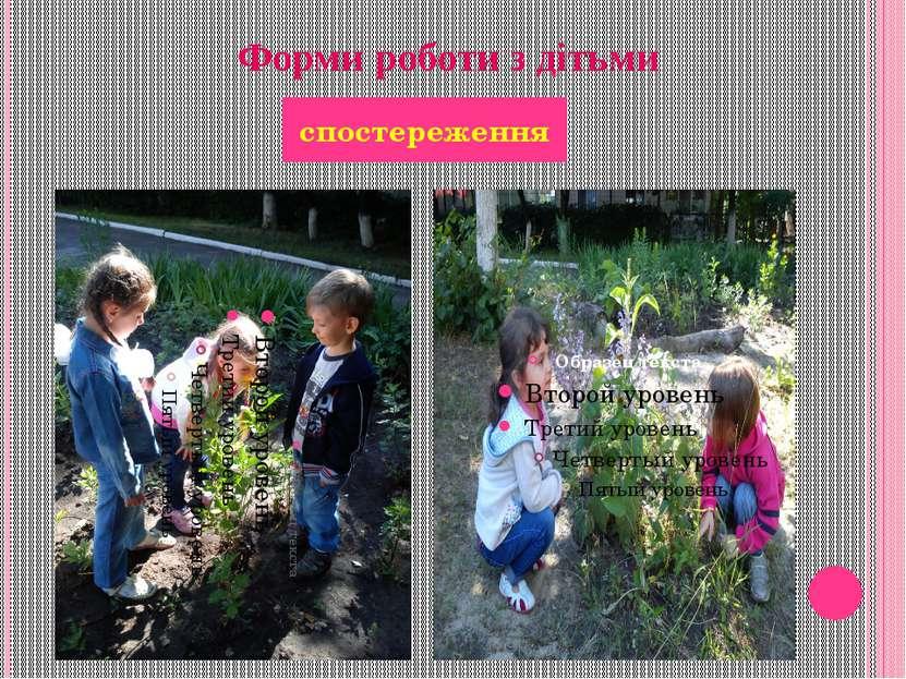 Форми роботи з дітьми спостереження