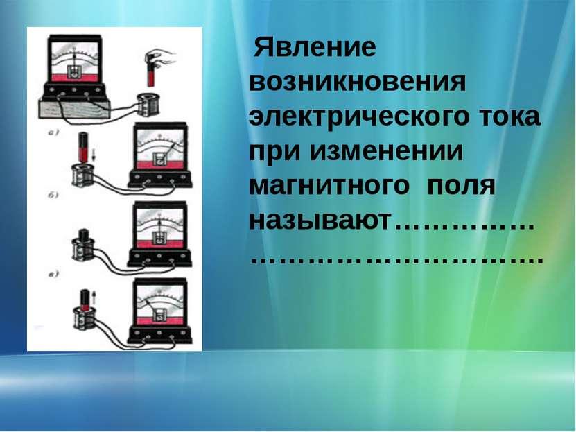 Явление возникновения электрического тока при изменении магнитного поля назыв...