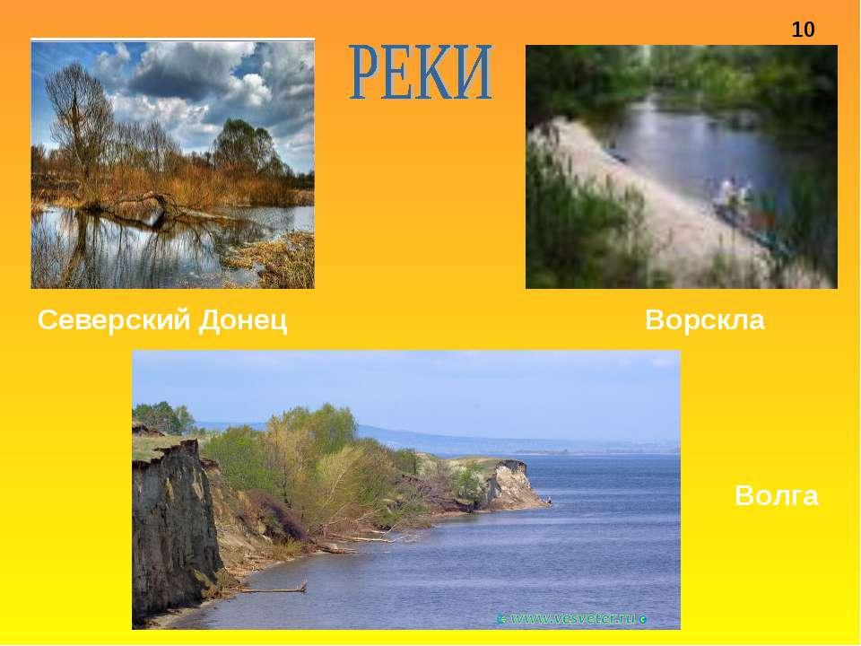 Северский Донец Ворскла Волга 10