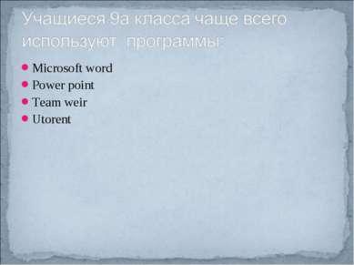 Microsoft word Power point Team weir Utorent