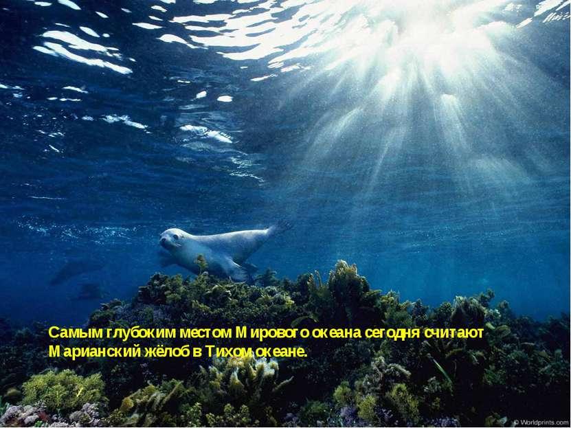 Самым глубоким местом Мирового океана сегодня считают Марианский жёлоб в Тихо...