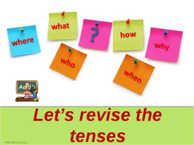 Let's revise the tenses