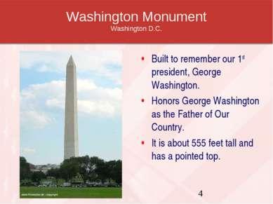 Washington Monument Washington D.C. Built to remember our 1st president, Geor...