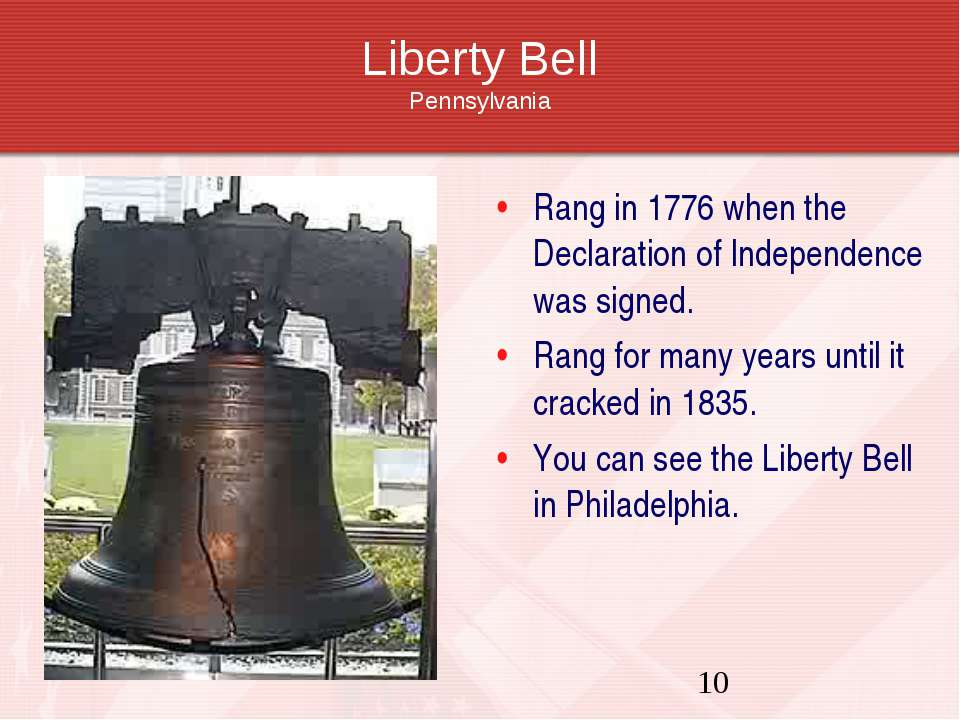 Liberty Bell Pennsylvania Rang in 1776 when the Declaration of Independence w...