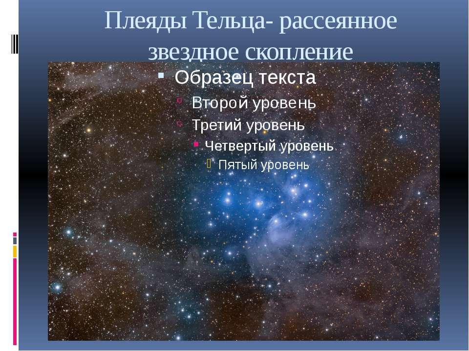 Плеяды Тельца- рассеянное звездное скопление