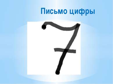 Письмо цифры