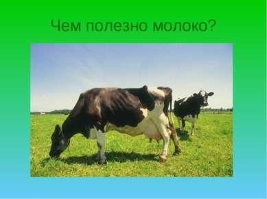 Чем полезно молоко?