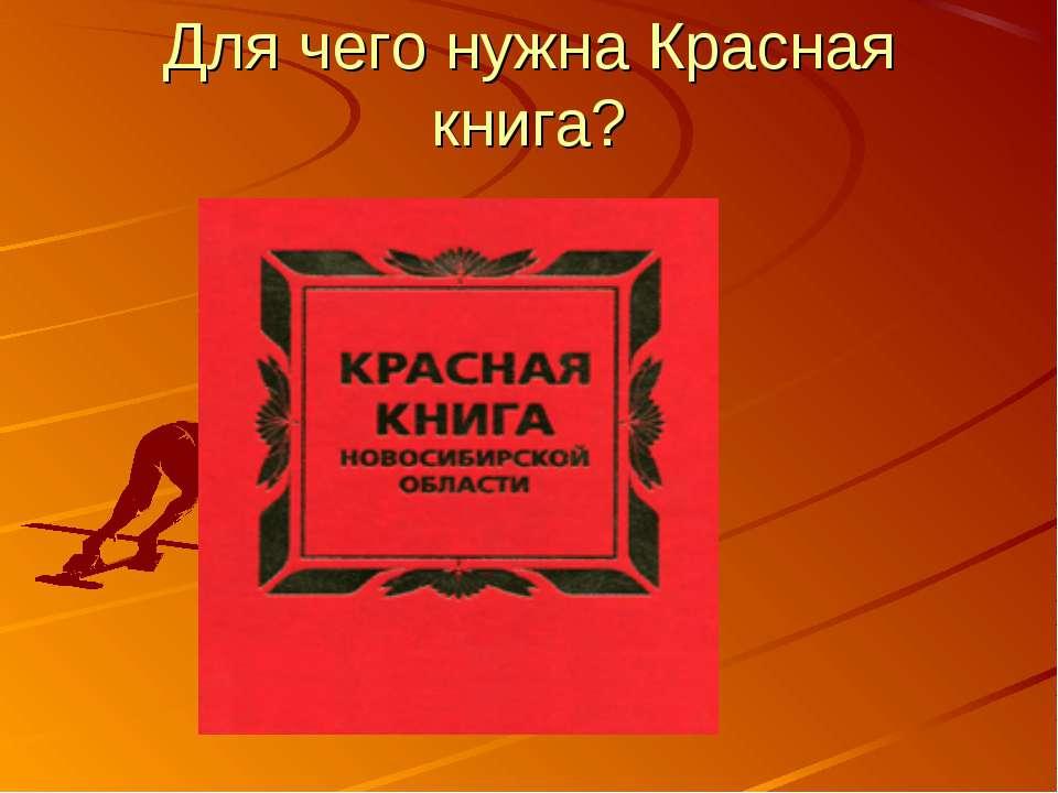 Для чего нужна Красная книга?