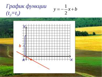 График функции (t2=t3) Y x A b