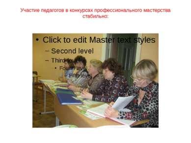 Участие педагогов в конкурсах профессионального мастерства стабильно: