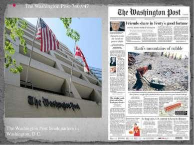 The Washington Post-740,947 The Washington Post headquarters in Washington, D.C.
