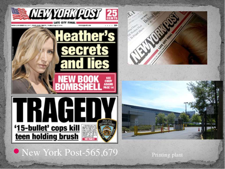 New York Post-565,679 Printing plant
