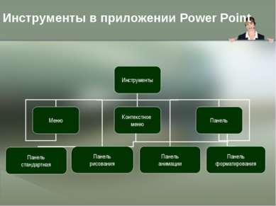 Инструменты в приложении Power Point