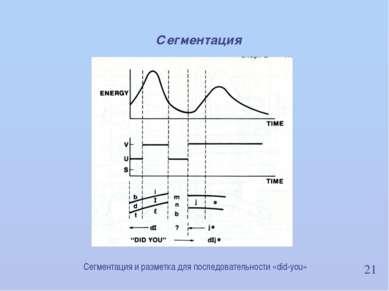 21 Сегментация Сегментация и разметка для последовательности «did-you» ИВНД и...
