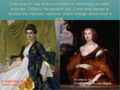 Collection of Tate Britain exhibited in chronological order, from the 1500s t...