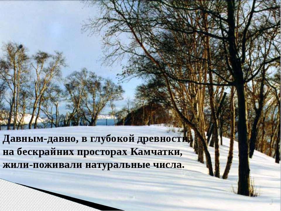 Давным-давно, в глубокой древности, на бескрайних просторах Камчатки, жили-по...