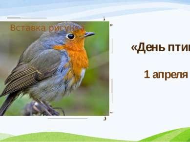 «День птиц» 1 апреля