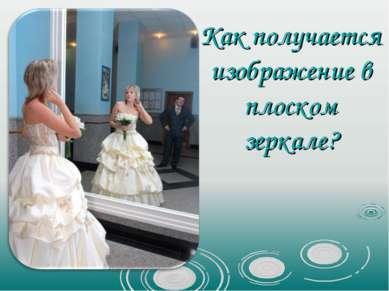 Как получается изображение в плоском зеркале?