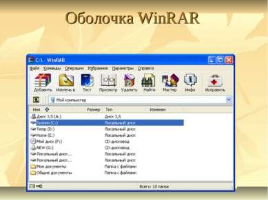 Оболочка WinRAR