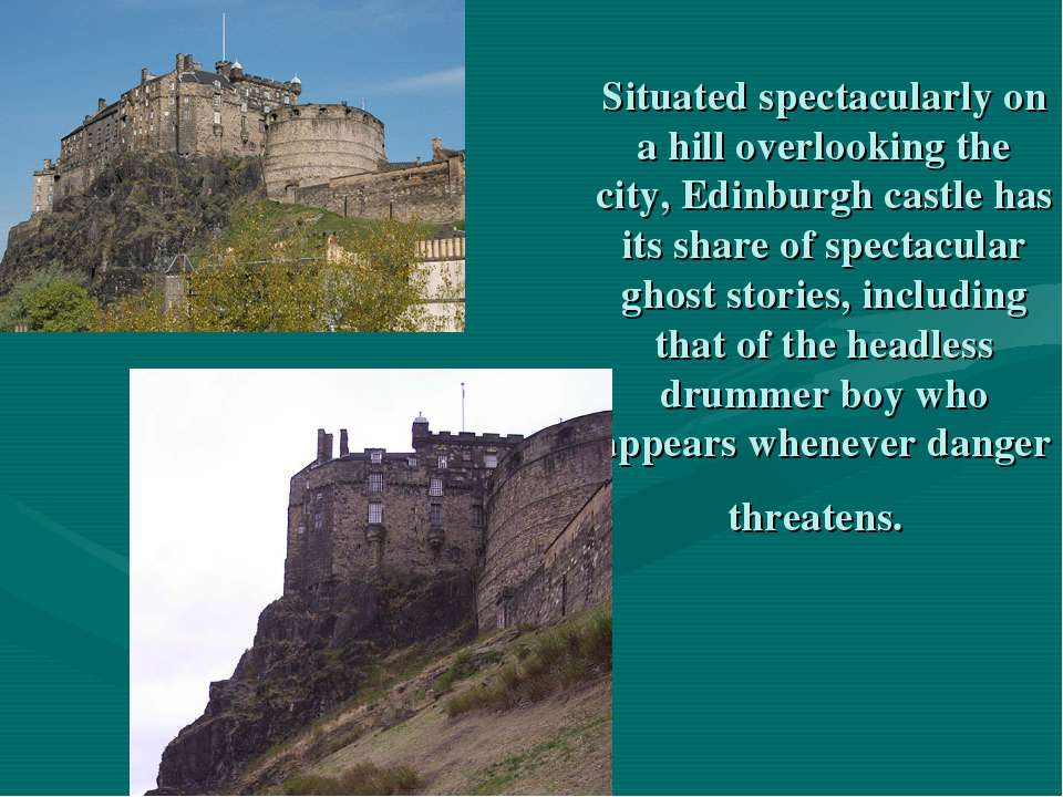 Situated spectacularly on a hill overlooking the city, Edinburgh castle has i...
