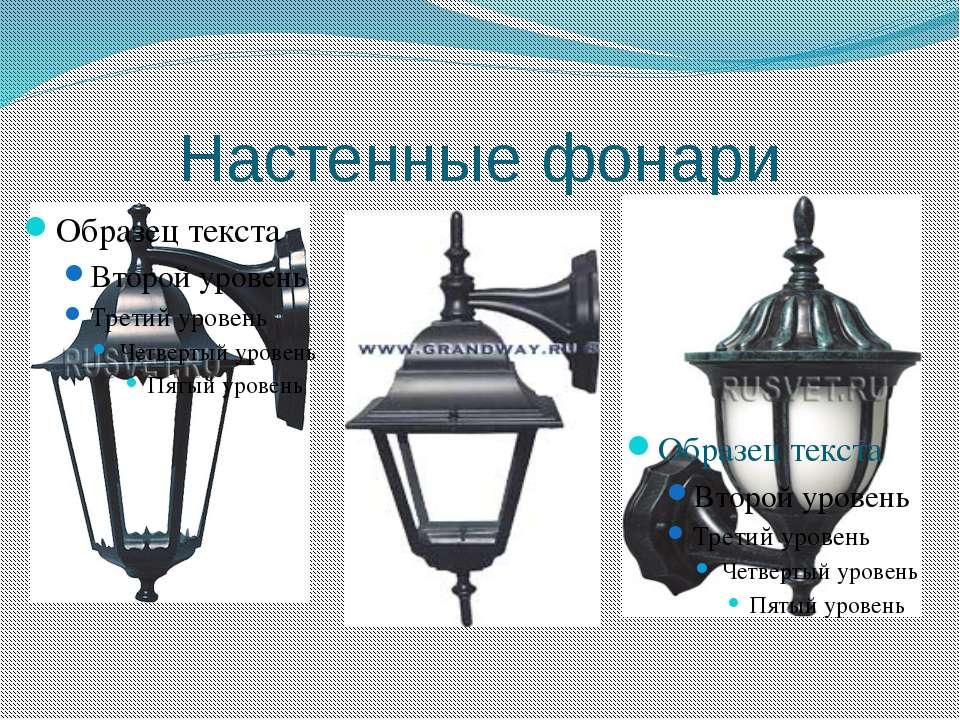 Настенные фонари