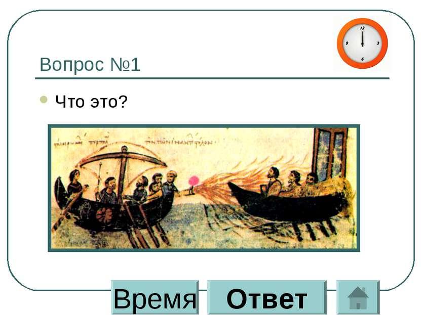 Вопрос №1 Что это? Время Ответ