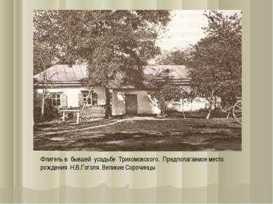 Флигель в бывшей усадьбе Трихомовского. Предполагаемое место рождения Н.В.Гог...