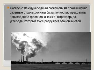 Согласно международным соглашениям промышленно развитые страны должны были по...
