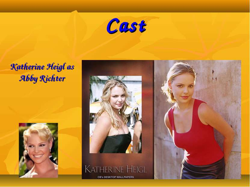 Cast Katherine Heigl as Abby Richter