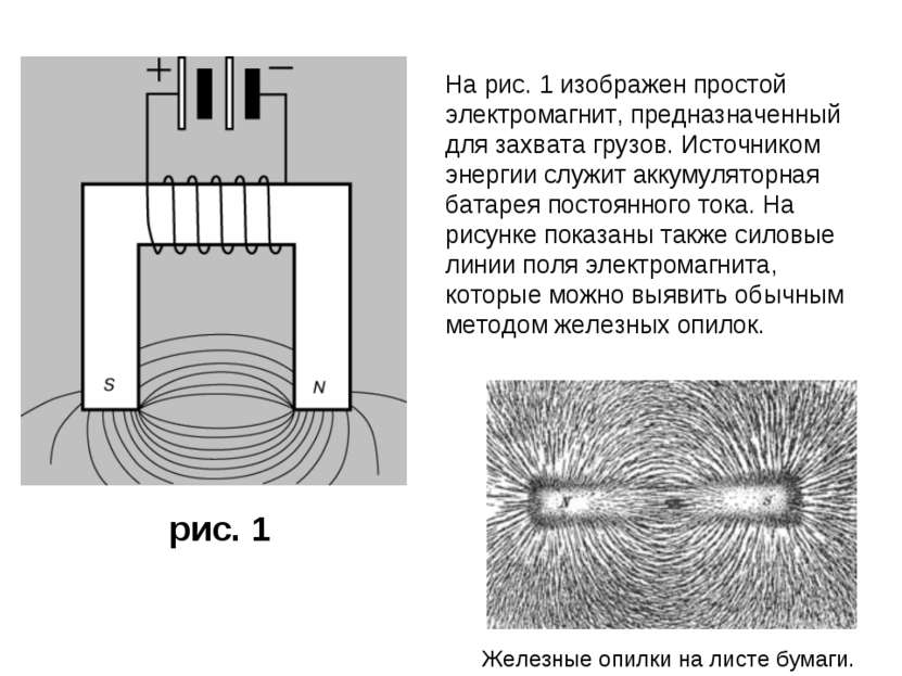 На рис. 1 изображен простой электромагнит, предназначенный для захвата грузов...