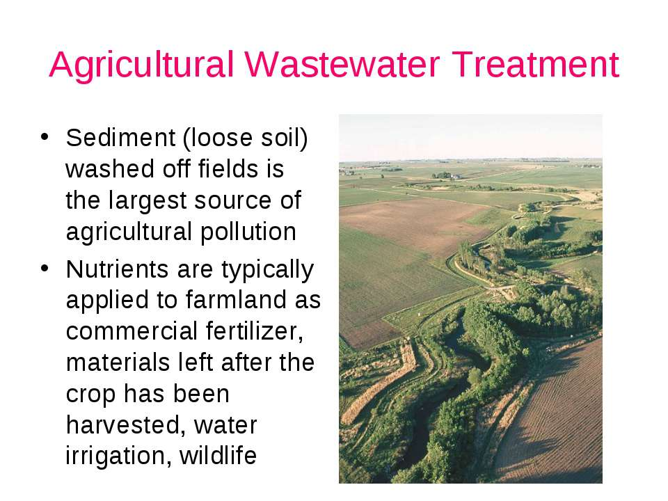Agricultural Wastewater Treatment Sediment (loose soil) washed off fields is ...