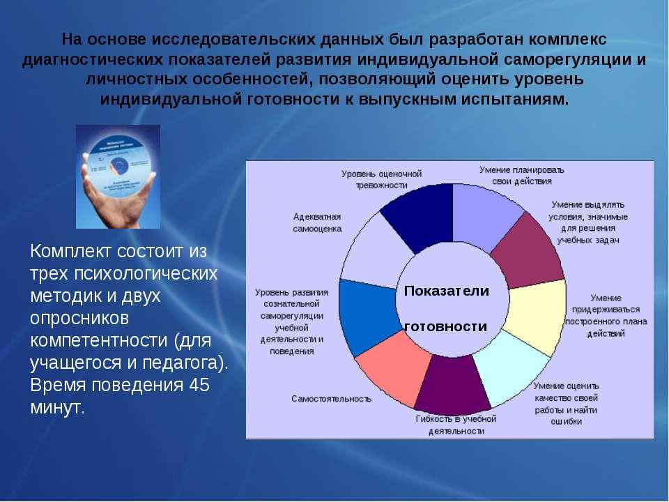 На основе исследовательских данных был разработан комплекс диагностических по...