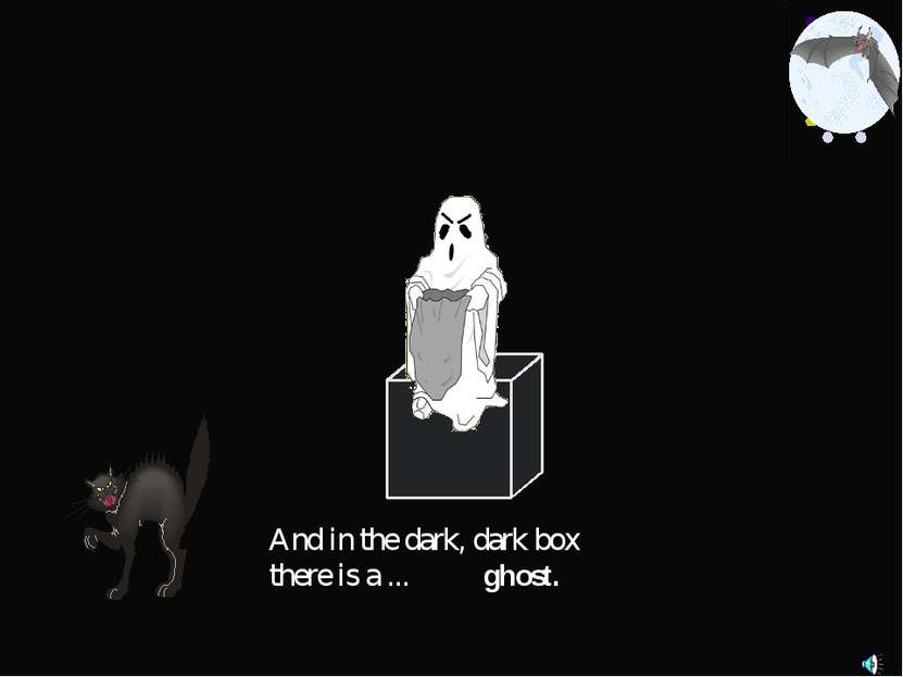 And in the dark, dark box there is a ... ghost.