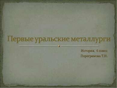 История, 6 класс Перегримова Т.Н.