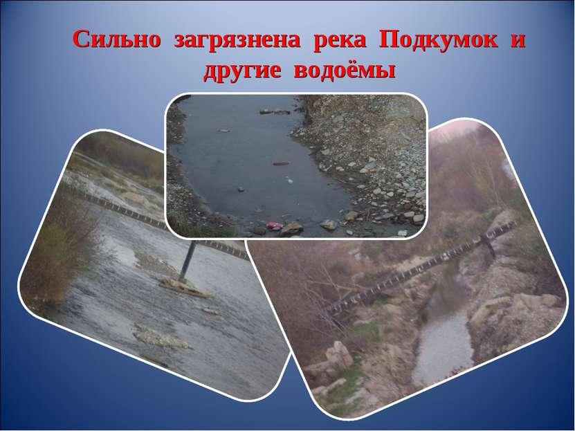 Сильно загрязнена река Подкумок и другие водоёмы