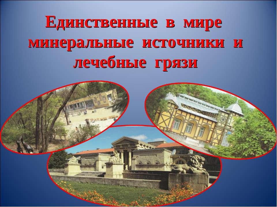 Единственные в мире минеральные источники и лечебные грязи