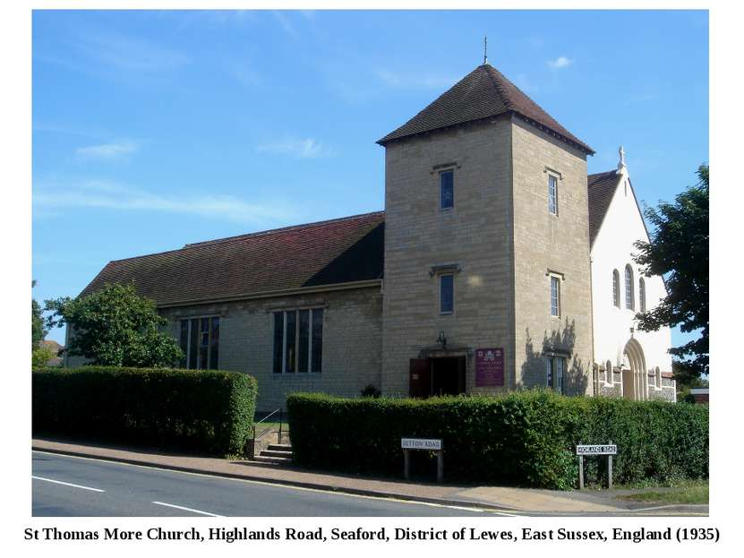 St Thomas More Church, Highlands Road, Seaford, District of Lewes, East Susse...