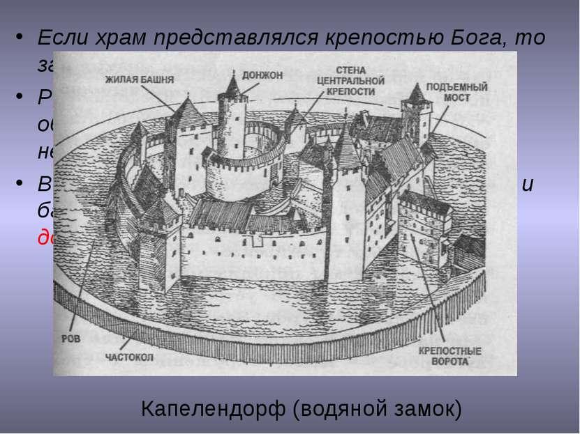 Если храм представлялся крепостью Бога, то замок – крепостью рыцаря. Романски...