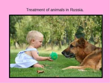 Treatment of animals in Russia.