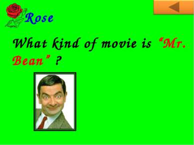 "What kind of movie is ""Mr. Bean"" ? Rose"
